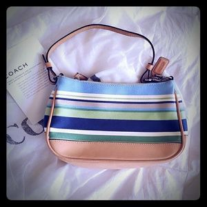 Striped Coach Bag